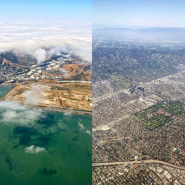 Goodbye #Bae Area, hello City of Angels 💁 #lax #sfo #latergram #aerialphotography #photooftheday #travel #fourthofjuly