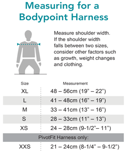 BodyPoint Harness Sizing