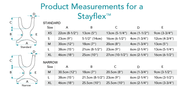 Stayflex Harness Measurements