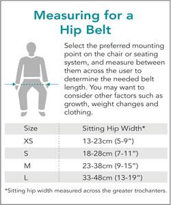 Bodypoint Hip Belt Sizing
