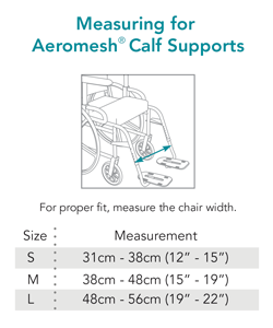 Aeromesh Calf Support - Sizing