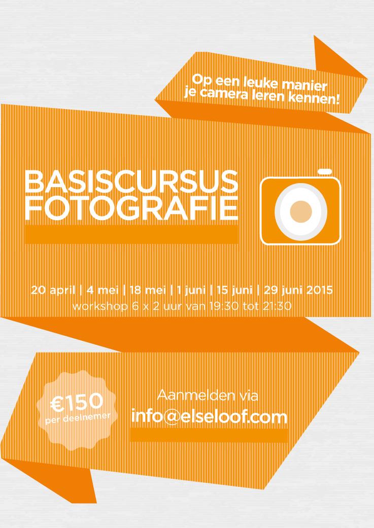 Flyer basiscursus Fotografie