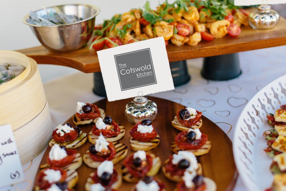 The Cotswold Kitchen wedding buffet - canapes