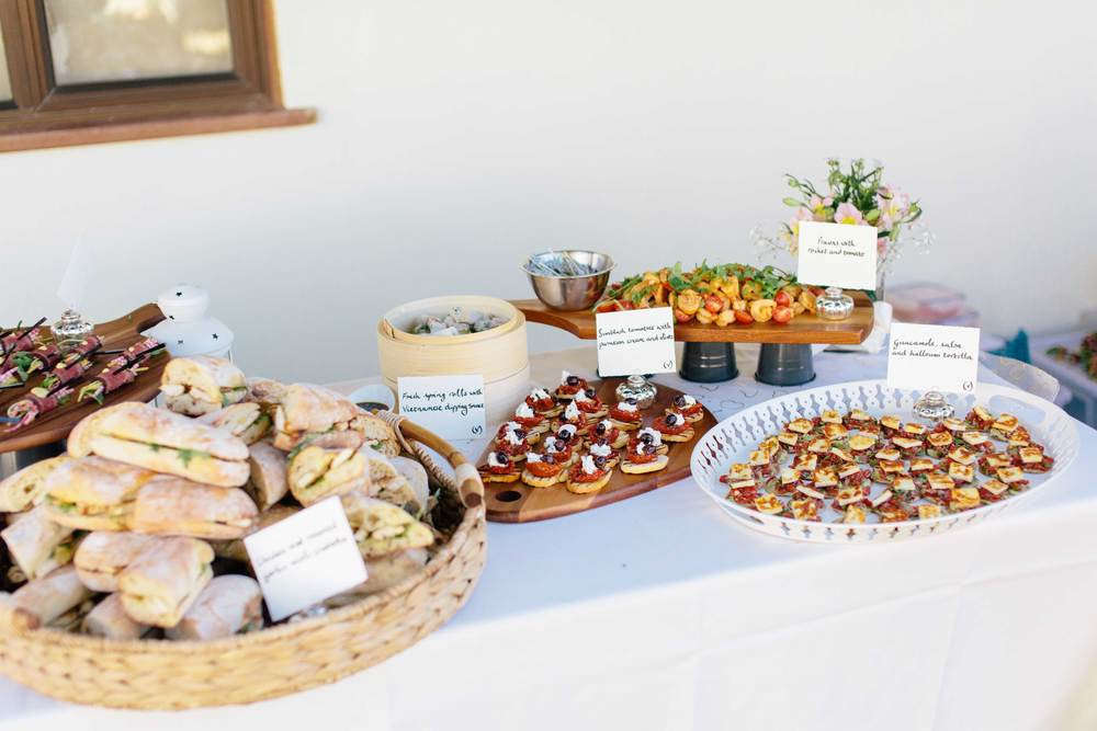 Summer wedding buffet - the Cotswolds 2014