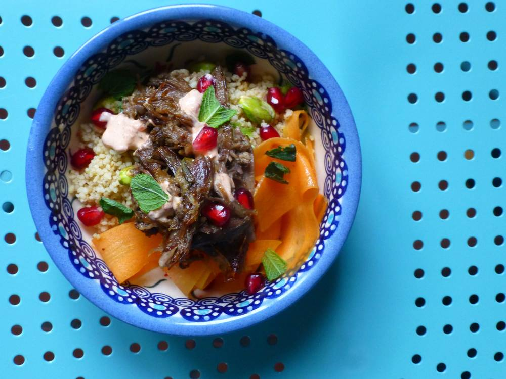 Bowl food - lamb & couscous, The Cotswold Kitchen Catering