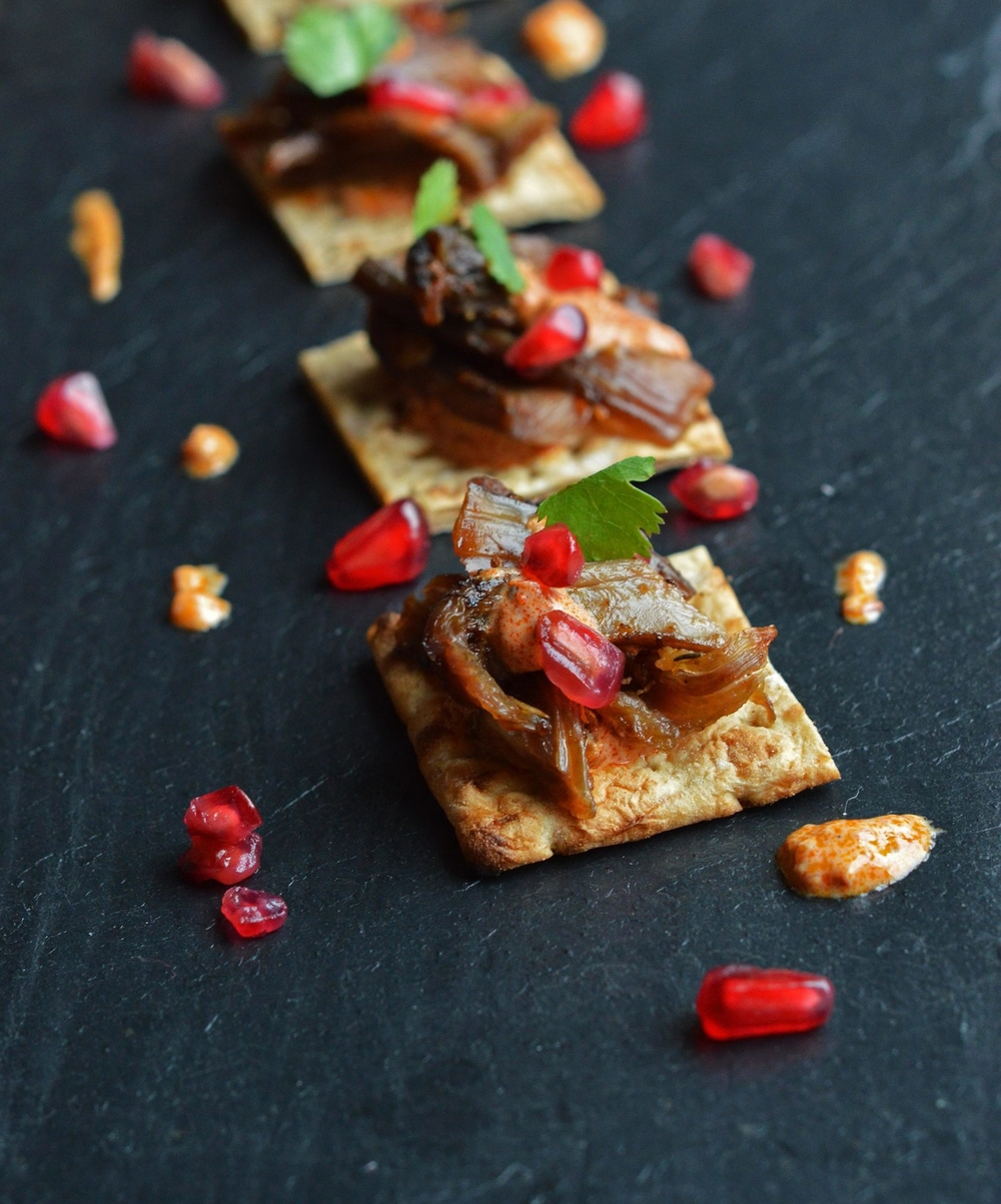 Jewelled lamb finger food, part of our canapé menu