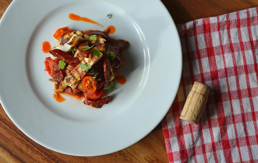 Chicken with chorizo & sunblush tomatoes - Private dining menu option