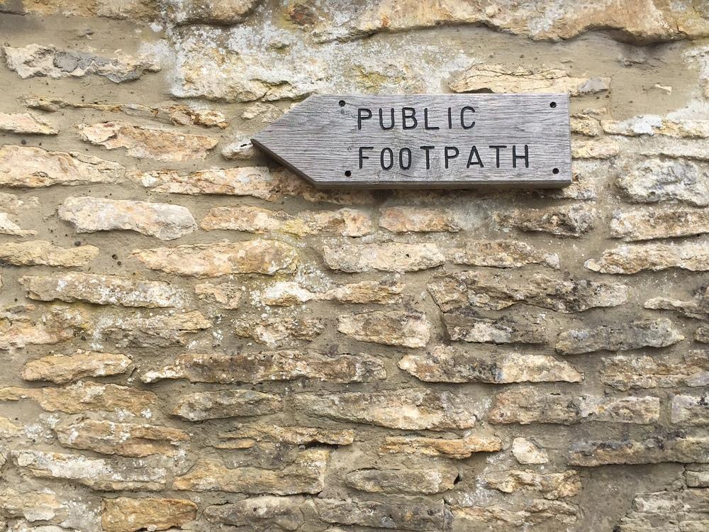 Cotswold stone signpost