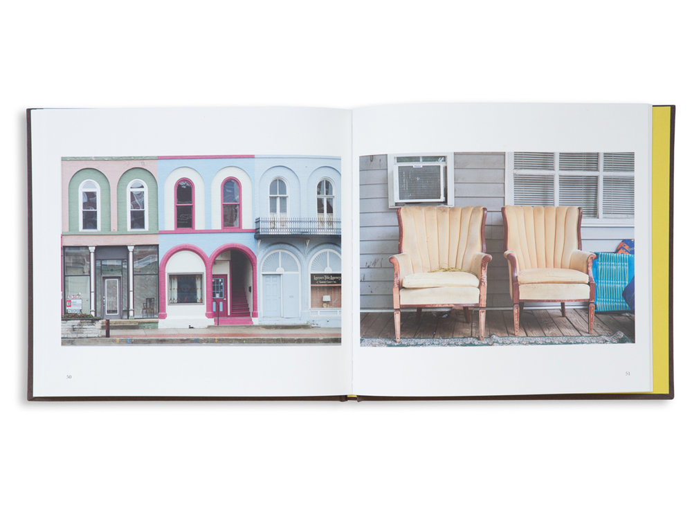 A spread from  True Places  by Jack Carnell