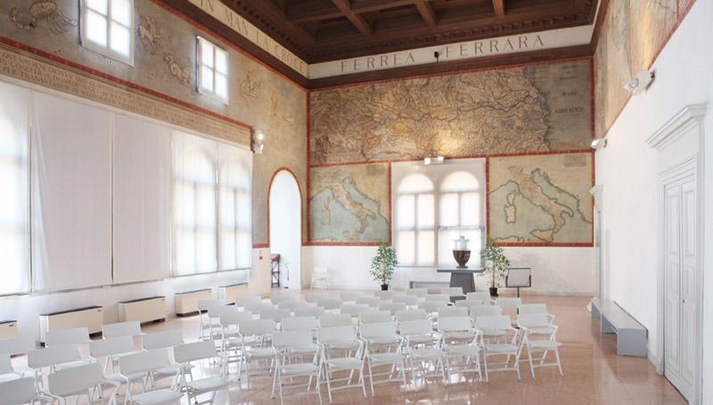 """Il Salone delle carte geografiche, Palazzo Costabili detto """"di Ludovico il Moro"""""""