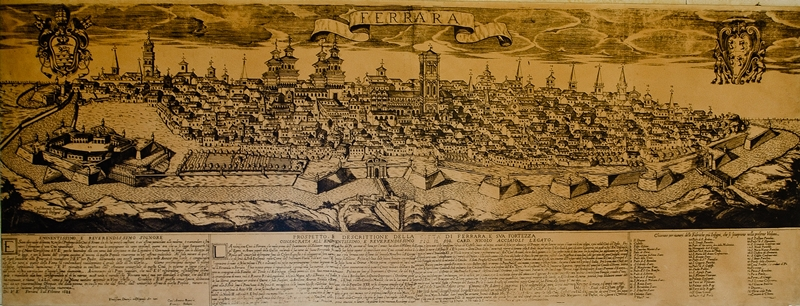 An old map of Ferrara