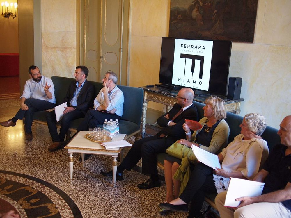 "Ferrara International Piano Festival 2104, Press Conference at the Teatro Comunale ""Claudio Abbado"" in Ferrara"