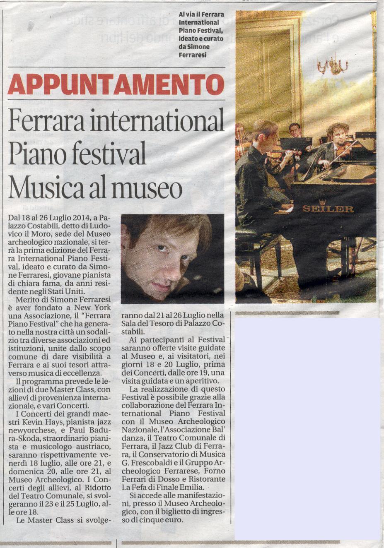 La Nuova Ferrara, 14 luglio 2014