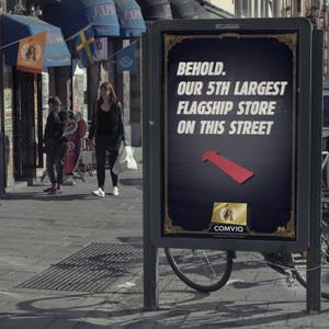 Comviq: 19 000 Flagship stores   Outdoor & TVC