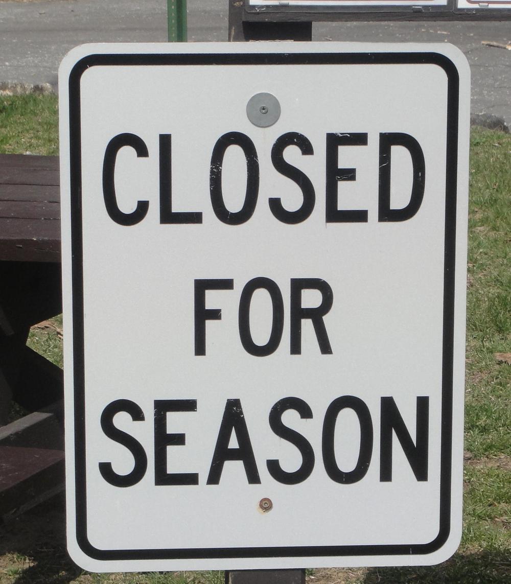 As I closed the season