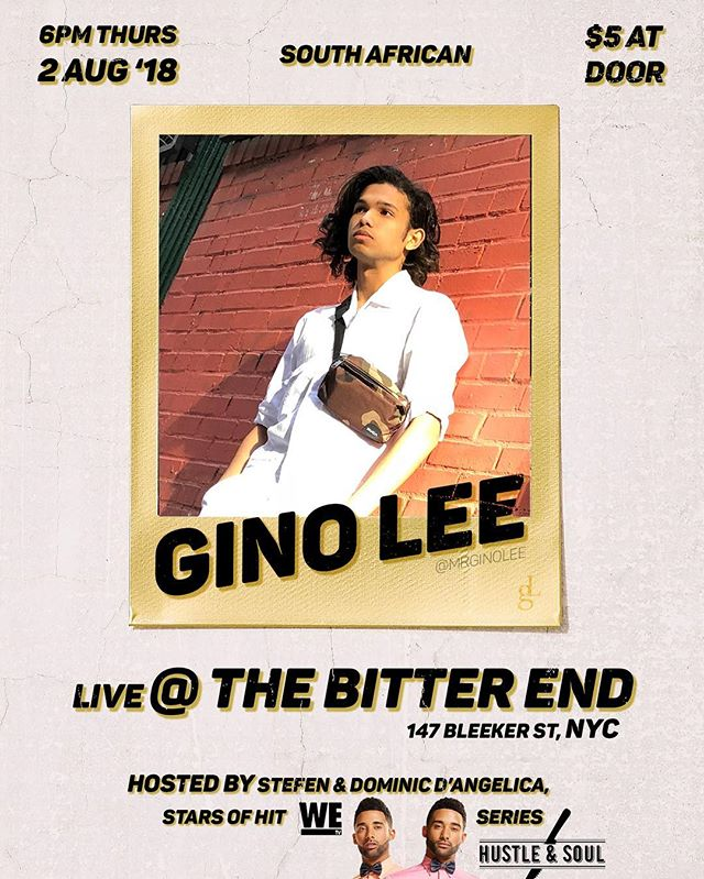 I'll be performing at @thebitterendnyc this Thursday, 2nd of August at 6pm!! Tickets at $5 at the door 🙏 The show will be hosted by the awesome @iamstefendangelica & @iamdominicdangelica from @wetv @hustleandsoulwetv 🔥⚡️