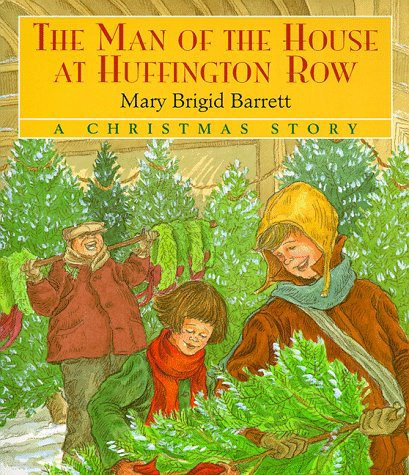 "The Man of the House at Huffington Row written and illustrated by Mary Brigid Barrett © 1998 Houghton Mifflin Harcourt Francis O'Shea doesn't have much reason to celebrate the holidays. Since his father's death, he has spent most of his time trying to earn money and caring for his younger sister, Katherine Mary. As Christmas approaches, he finds her in a large cathedral admiring a Nativity scene. She accidentally breaks an angel and both children are thrown out of the church. When his sister loses their father's scarf, Francis attempts to build a creche out of snow to help ease her sorrow. At this point, he has ceased to believe in miracles. His faith is restored when neighbors step out into the cold night to make the snow figures; in the morning, the snow Baby is wrapped in the missing scarf. The pictures tell a story of a time past when an apple or a loaf of bread cost a nickel. Wonderful illustrations depict wintry scenes and characters bundled against the elements. They provide a striking contrast to the indoor activities, adding an extra stillness to the cathedral and warmth to the O'Shea home. A heart-tugging selection about the true meaning of sharing and giving. School Library Journal; ©1998 Reed Business Information, Inc.   The Man of the House at Huffington Row was named the ""Best Book of the Year"" for children eight to twelve by the National Storyteller's Association, and paintings from Huffington Row were exhibited in a juried illustration show at The Norman Rockwell Museum."