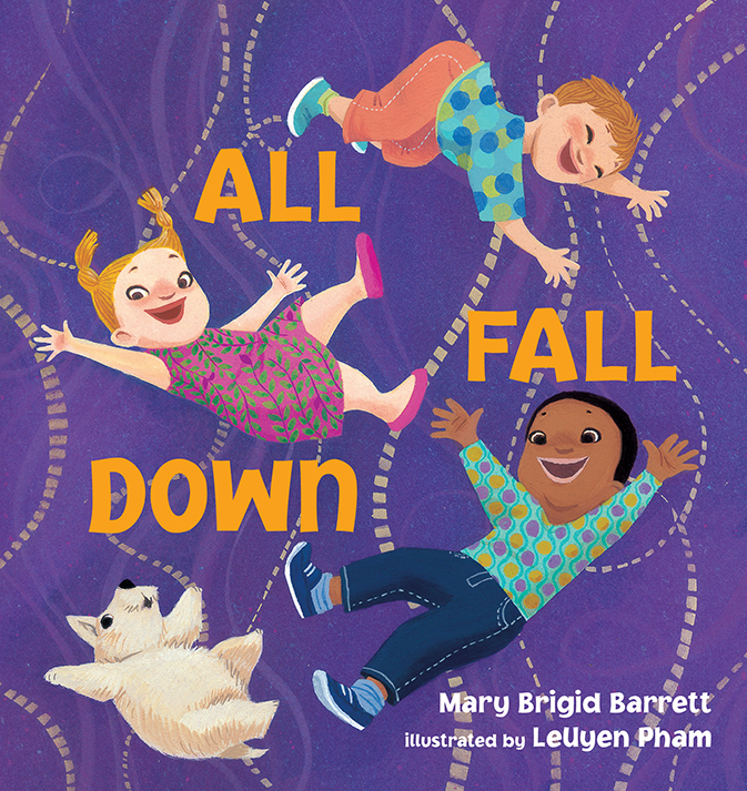 All Fall Down by Mary Brigid Barrett, illustrated by LeUyen Pham;© 2014 Candlewick Press Publishing From a bright tower made of blocks to a boisterous family playing a game of Ring Around the Rosie, there are many ways to join things together—and watch them tumble in a delightful heap!