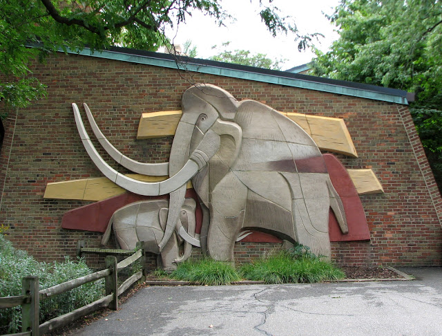 This is one of sculptor Viktor Schreckengost's bas-reliefs at the Cleveland Zoo, one of my favorite places in Cleveland. I loved watching the elephants and I loved Schreckengost's sculptures.