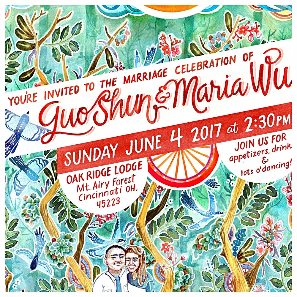 Liz Maycox, Illustration Wu Wedding Invite