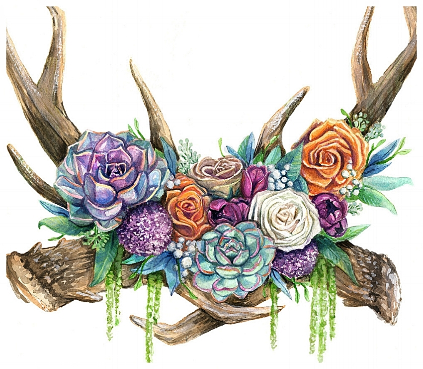 Liz Maycox Illustration Wedding Invitation