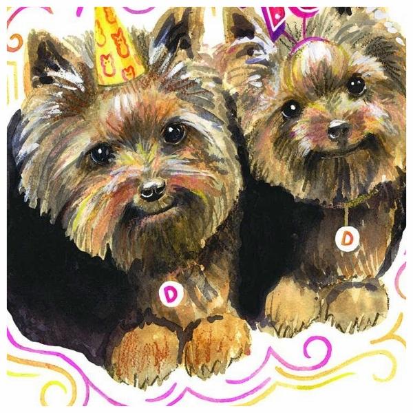 Twin Surprise Party Invitation © Liz Maycox Illustration