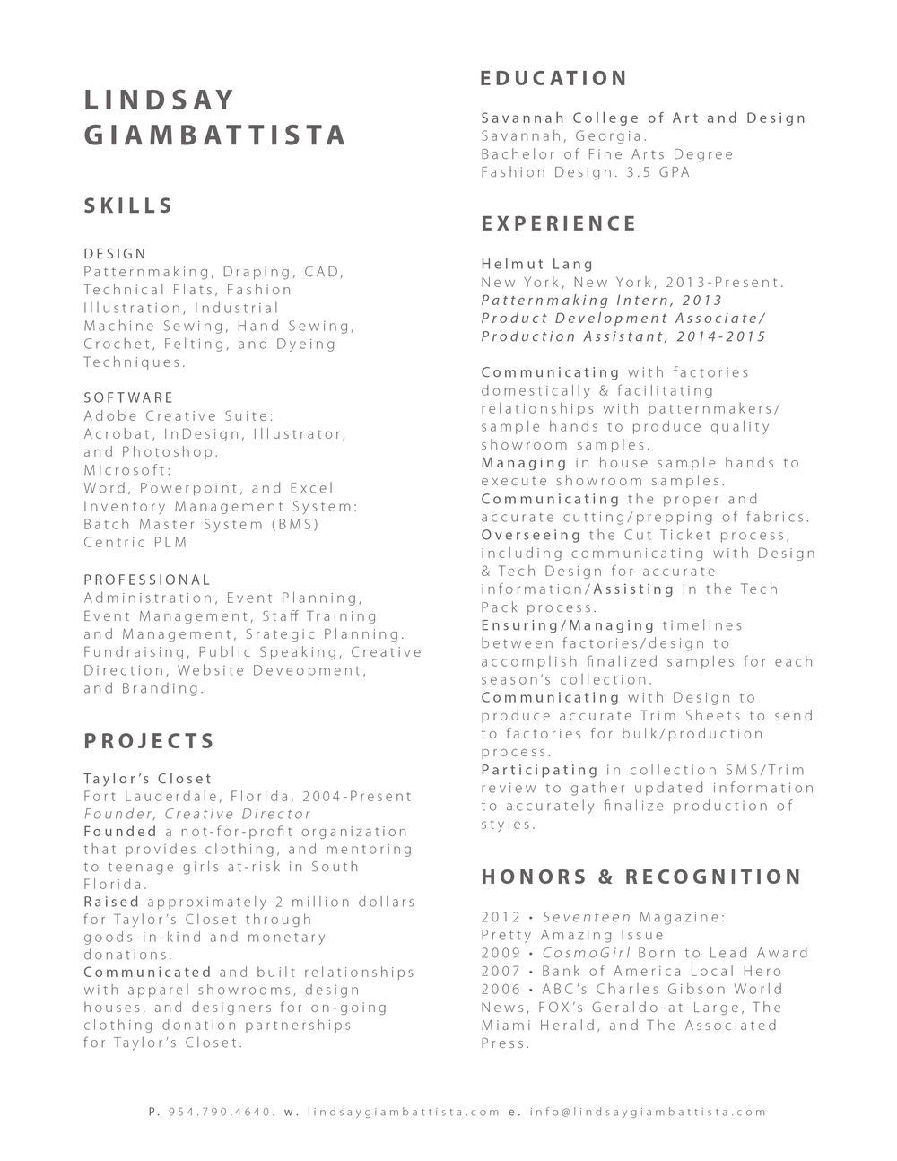 resume lindsay giambattista reacutesumeacute jpg