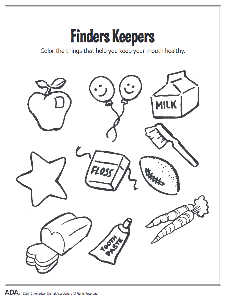 Finders Keepers Coloring - Cache Valley Pediatric Dentistry
