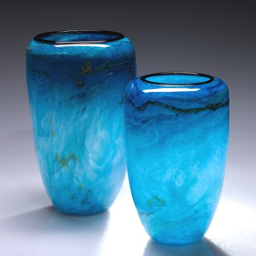 Teal Granite Vase Dehanna Jones