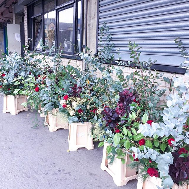How stunning are these floral displays?! Here they are getting ready to go into Selfridges as part of their Xmas store display! Just Love how these arrangements have really subtle festive touches without being xmas🤗with a capital X ... 💐 🎄.