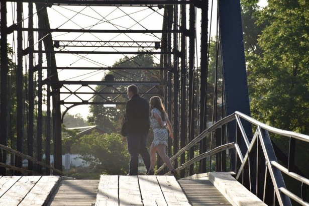 Little did Candice know that Josh had a little surprise on the other side of the bridge waiting for her.