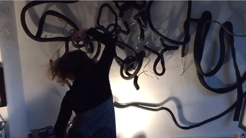 "I invite you to witness the powerful movement of Lori Darley dancing to ""It Never Ends"", a work I created about connectivity, at my art studio.   Click to watch."