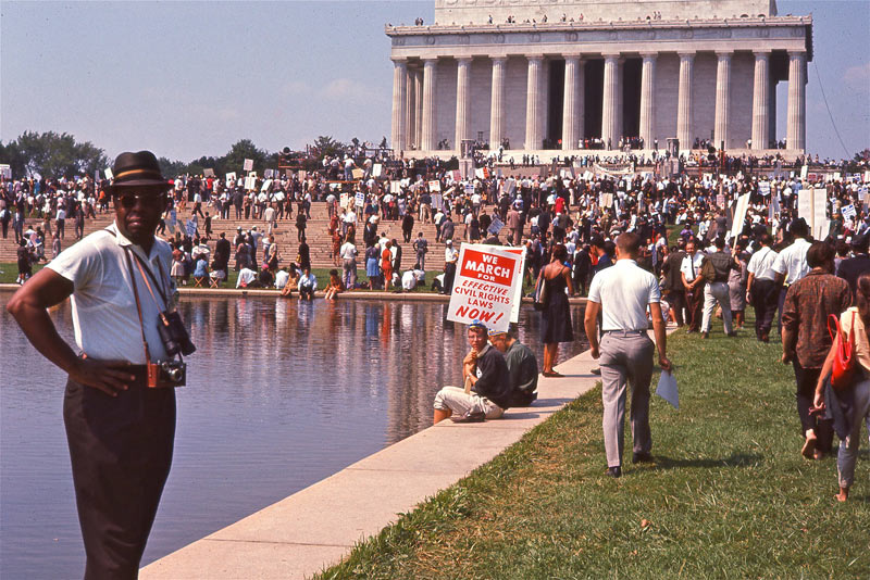A crowd gathers on August 23, 1963 for The March on Washington, one of the largest rallies in US history, as seen in  I Am Not Your Negro , 2016. Courtesy of Magnolia Pictures.
