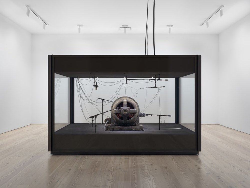 Kevin Beasley,  A view of a landscape: A cotton gin motor,  (2012–2018). Courtesy Casey Kaplan, NY. Photo: Ron Amstutz.