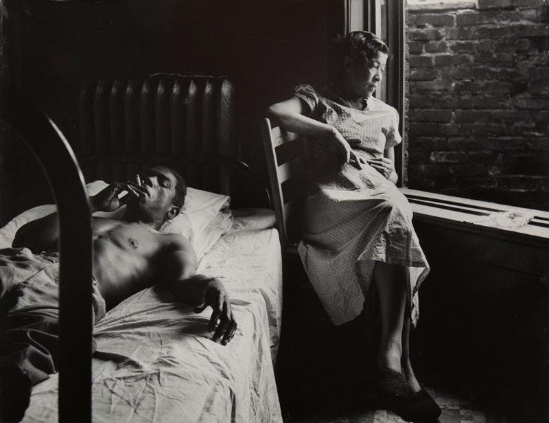 Gordon Parks,  Tenement Dwellers, Chicago, 1950.  Gelatin silver print, 10 3/4 x 14 inches. © and courtesy The Gordon Parks Foundation.