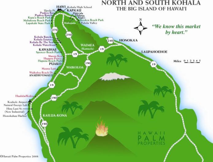 Kohala Coast Hawaii Map.Maps Julie Vinh