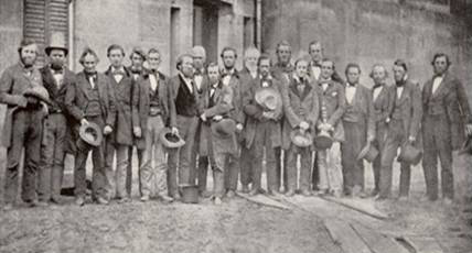 The rescuers at the Cuyahoga County Jail in April 1859