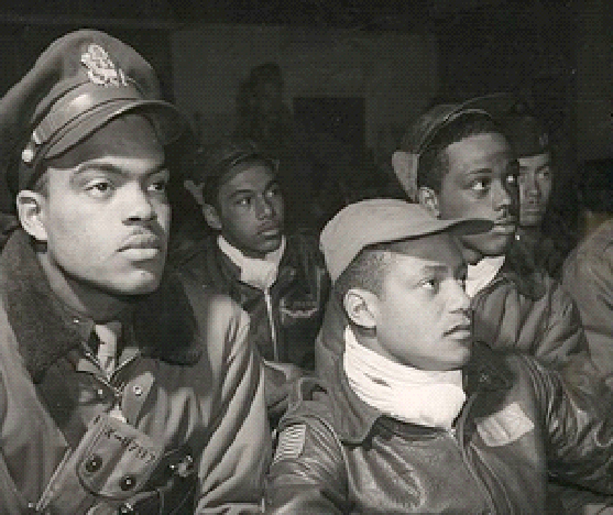 Tuskegee airmen in Italy, 1945