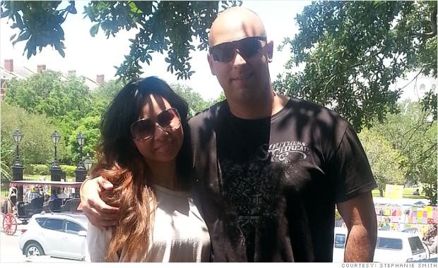 Stephanie Smith and her Marine Corps husband Paul.