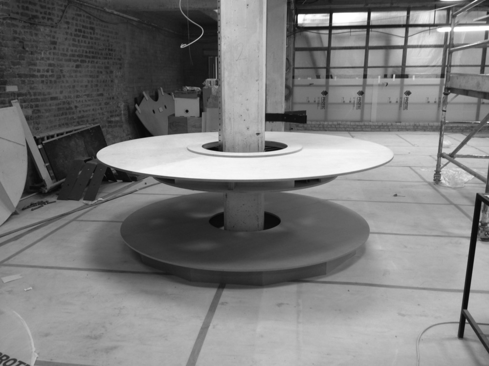 Prototype for circular desk