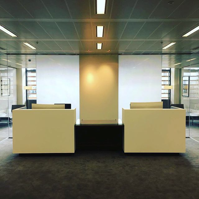 Newly installed #Corian reception desks