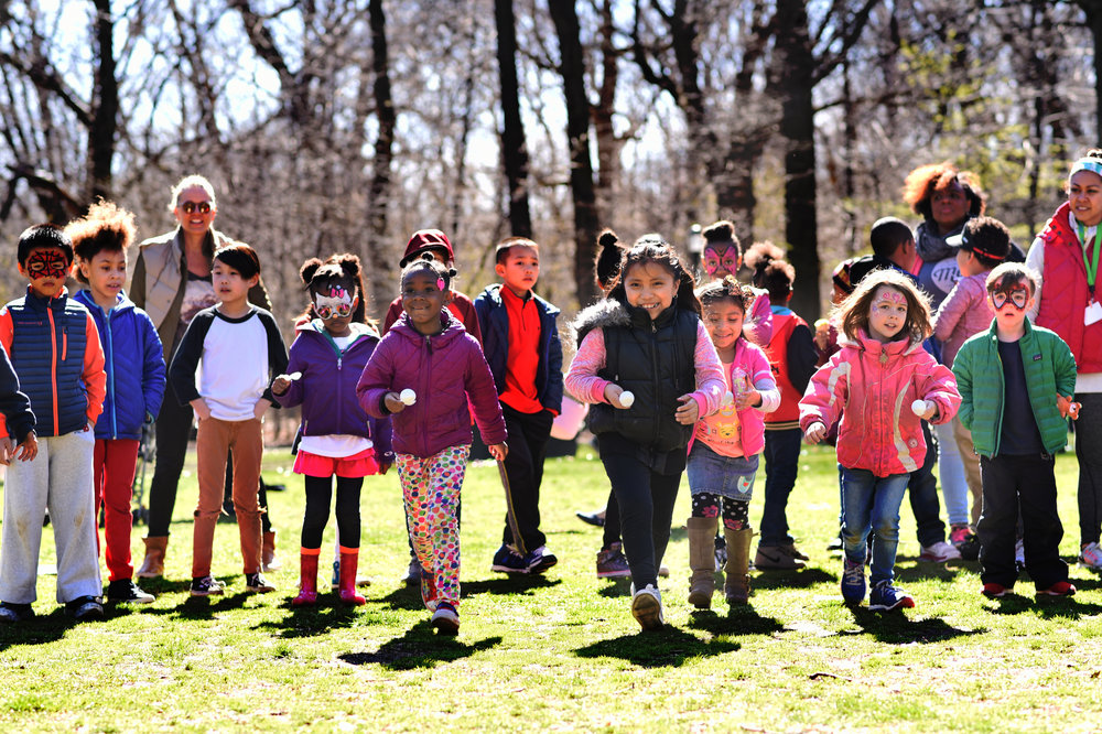 Our Easter Egg Hunt this year attracted roughly 150 kids and adults!    Photo Credit: Katherine Pastrana