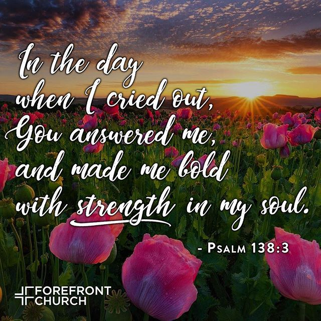 In the day when I cried out, You answered me, and made me bold with strength in my soul. ~ Psalm 133:8 #StayStrong #WalkInLove #JesusIsLord