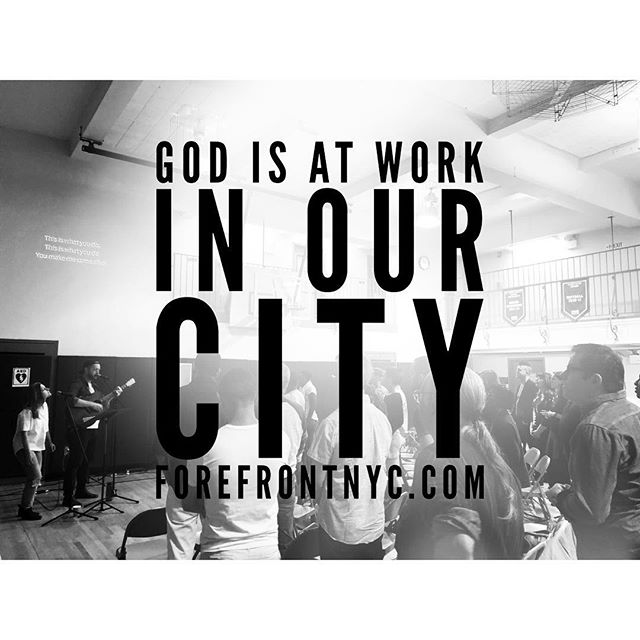 Join us on Sunday at 201 W 13th street. 11 AM. Read more about our ethos at Forefrontnyc.com