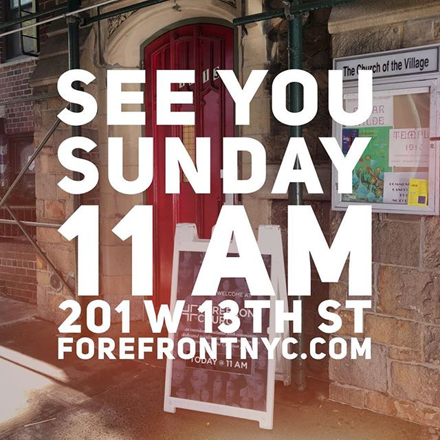 Can't wait to see you this Sunday!