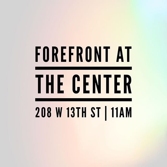 This Sunday we are meeting at the center! 11AM