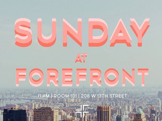 See you Sunday! 11am!