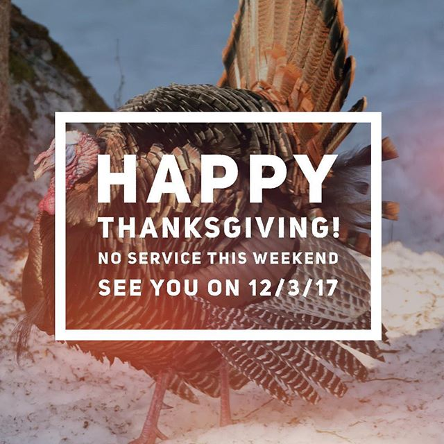 Enjoy this weekend of gratitude! We will see you on December 3rd!