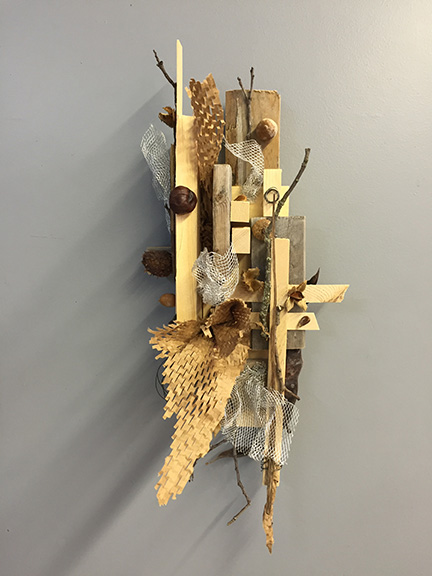 MY MOST RECENT SCULPTURE, ASSEMBLED QUICKLY AND INTUITIVELY WITH FOUND OBJECTS.