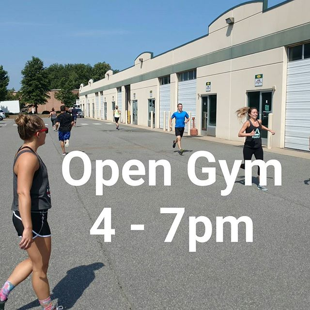 Good news!  Open Gym tonight from 4 to 7pm  Come in early and get your workout done before Lauren and Alyssa's going away dinner tonight at Akahana  #ncfitness #opengym #crossfit704 #akahana
